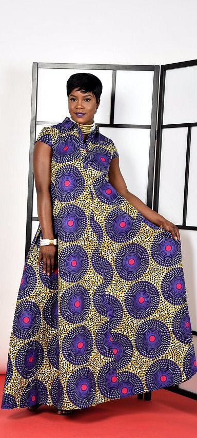 Purple-Kaftan Maxi Dress.   Ankara | Dutch wax | Kente | Kitenge | Dashiki | African print dress | African fashion | African women dresses | African prints | Nigerian style | Ghanaian fashion | Senegal fashion | Kenya fashion | Nigerian fashion | Ankara crop top (affiliate)