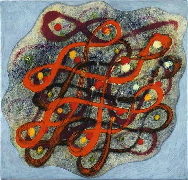 Philip Taaffe, Rangavalli Painting N, 2014, Mixed media on canvas, 35,6 x 39,4 cm