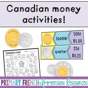 Canadian Money Activities! Games, posters, and practice! #tpt #teacherspayteachers #canadianmoney
