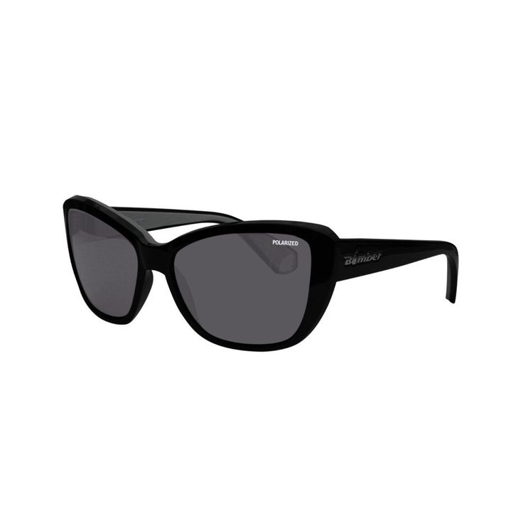 Bomber Sunglasses La Bomba Glossy Black Frame/Smoke Polarized Lens/Grey Foam