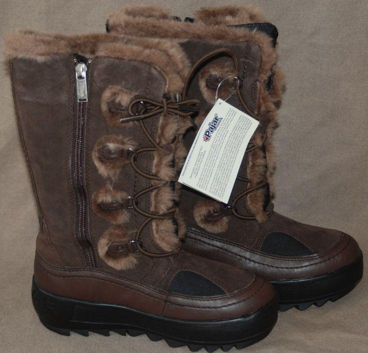 Pajar Women's Native Boot Dark Brown Sz 36 (US 5-5 1/2) $185-NIB #PAJAR #SnowWinter