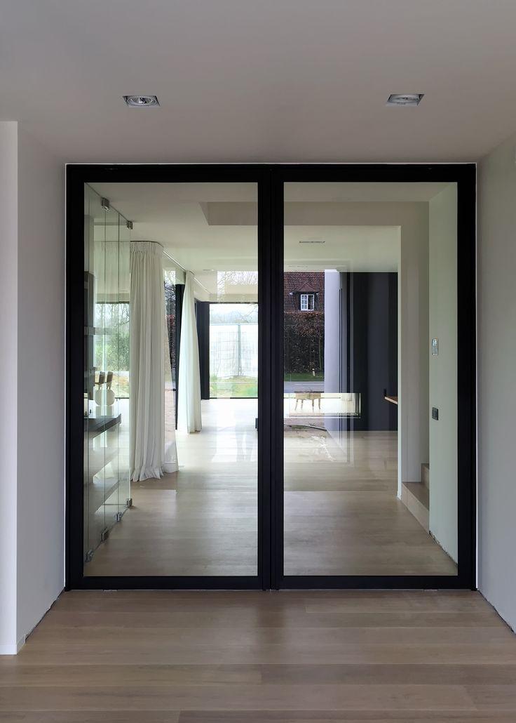 dubbele stalen deur met glas