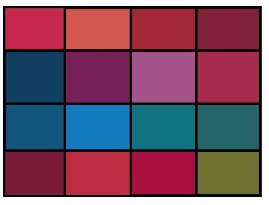 Яркие и сочные, живые цвета. Их используют как акценты, в аксессуарах и вечерних нарядах. Можно использовать как акценты в повседневной и деловой одежде.