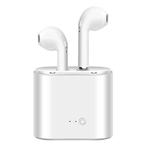 Bekhic Wireless Headphones Wireless Earbuds Headsets Earphones Stereo In-Ear Earpieces  White