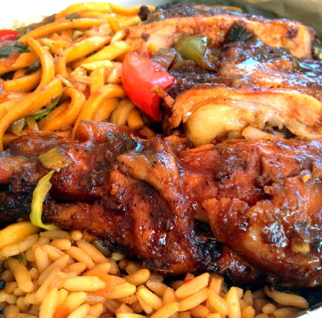 Trini Style Chinese Barbecue Chicken , Lomein and Fried Rice form our Trinidad- Chinese Food Cooking Class with TriniSoul   #simplycaribbean #trinisoulcooking