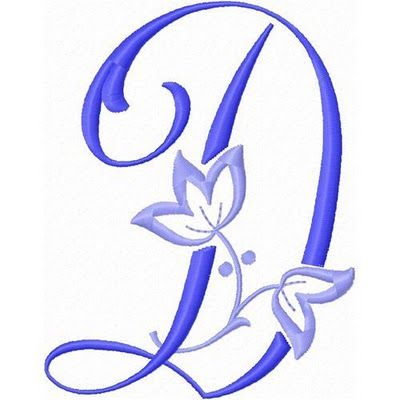Alfabeto con Flor de Lis bordada.
