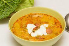 A frankfurti leves olyan gazdag, hogy akár főétel is lehetne. Ebből elégedetten kanalazgatsz.