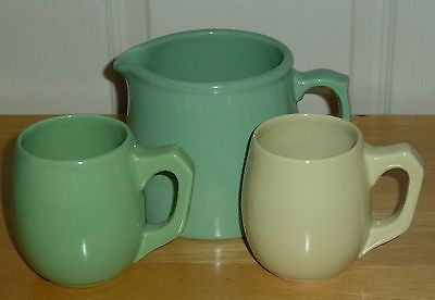 FOWLER JUG AND TWO MUGS Australian Pottery in Pottery, Glass | eBay