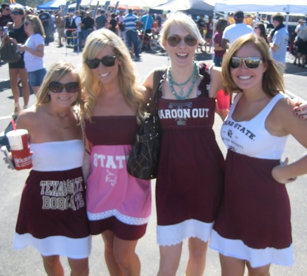 Texas State Bobcats Game Day T Shirt Tee Dress