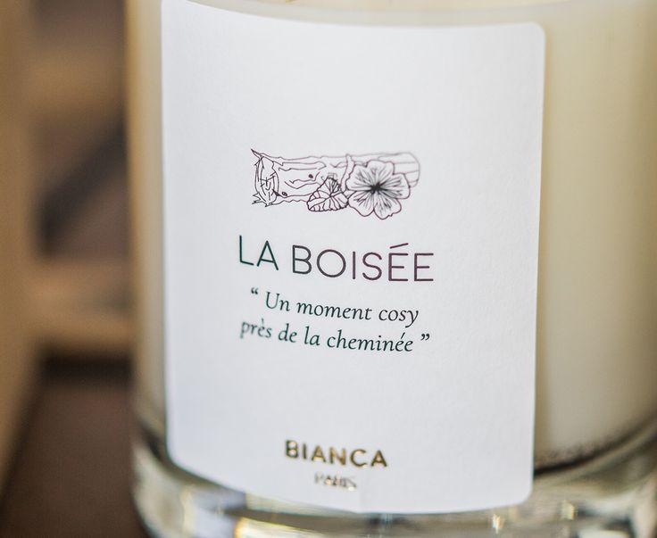 La Boisée  www.biancaparis.fr  Bougie - Bougie parfumée - BIANCA PARIS - Fabriquée en France - Fabrication française - Made in France - Cire végétale - Cire de soja