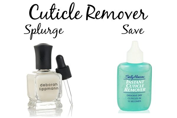 Best Cuticle Removers. Either splurge or save with these two options - Deborah Lippmann Cuticle Remover or Sally Hansen Instant Cuticle Remover.