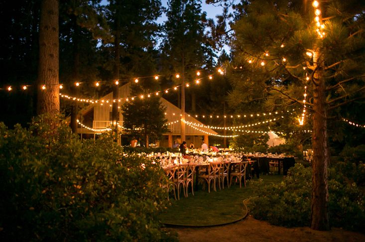 Tuscan Inspired Wedding Dinner Tables Under The Bistro