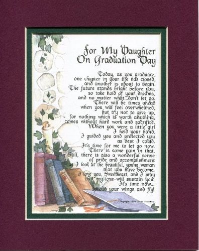 For My Daughter on Graduation Day Poem | 8 Best High School Graduation Gifts for Her