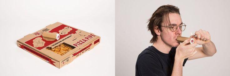 Genial! Nikolas Gregory und Push for Pizza haben einen Pizzakarton mit integrierter Hasch-Pfeife und sogar einem Keramiktöpfchen entwickelt. Die integrierte Pfeife kann der Kunde selbst zusammenfalten, die Reihenfolge des Konsums bestimmt er dann natürlich auch selbst vermutlich erst basteln, dann rauchen, dann Pizzabedürfnisssss AUCH INTERESSANT: Filter by Post type Post Page Category Sort by [ ]