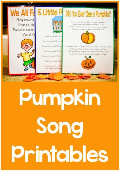 Pumpkin Songs with free printables!