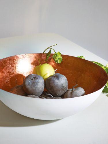 White & Copper Bowl  |  Cox & Cox