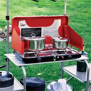 Outdoor Works®  Deluxe Dual Burner  Camp Stove