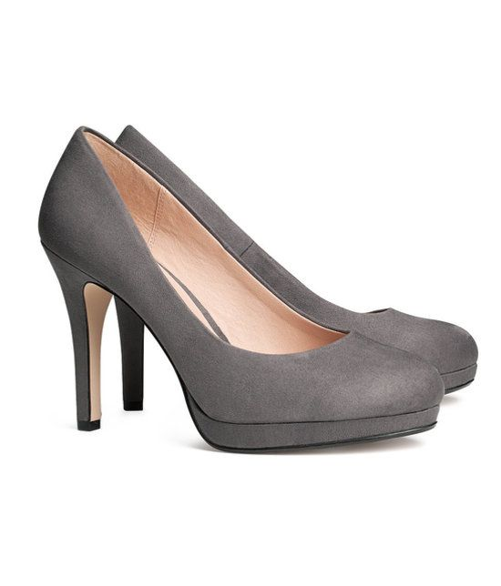 Forget black heels- we love a gray version from H&M
