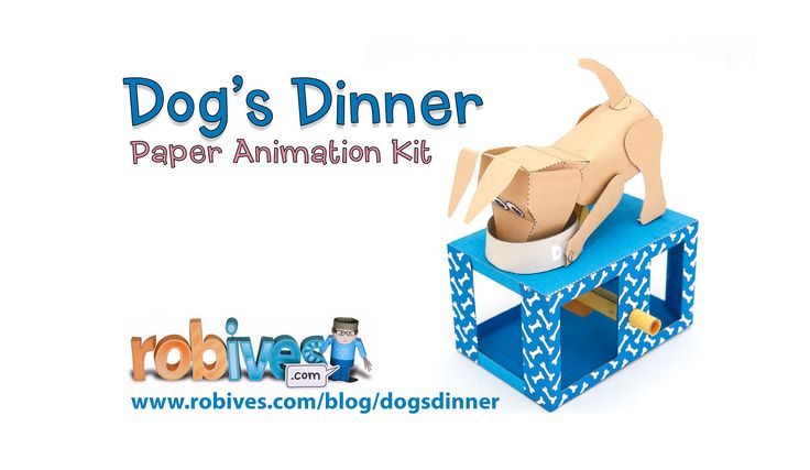 Dog's Dinner Paper Animation Kit to download and make