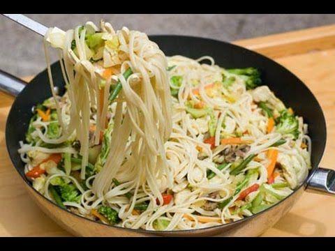 Fideos chinos con res y verduras / Cómo hacer fideos chinos