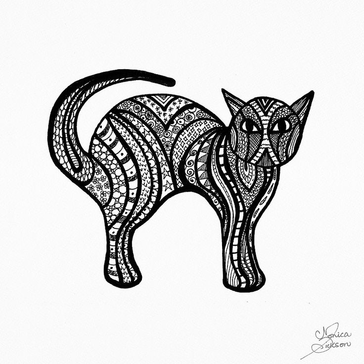 Doodle art Kitty Cat