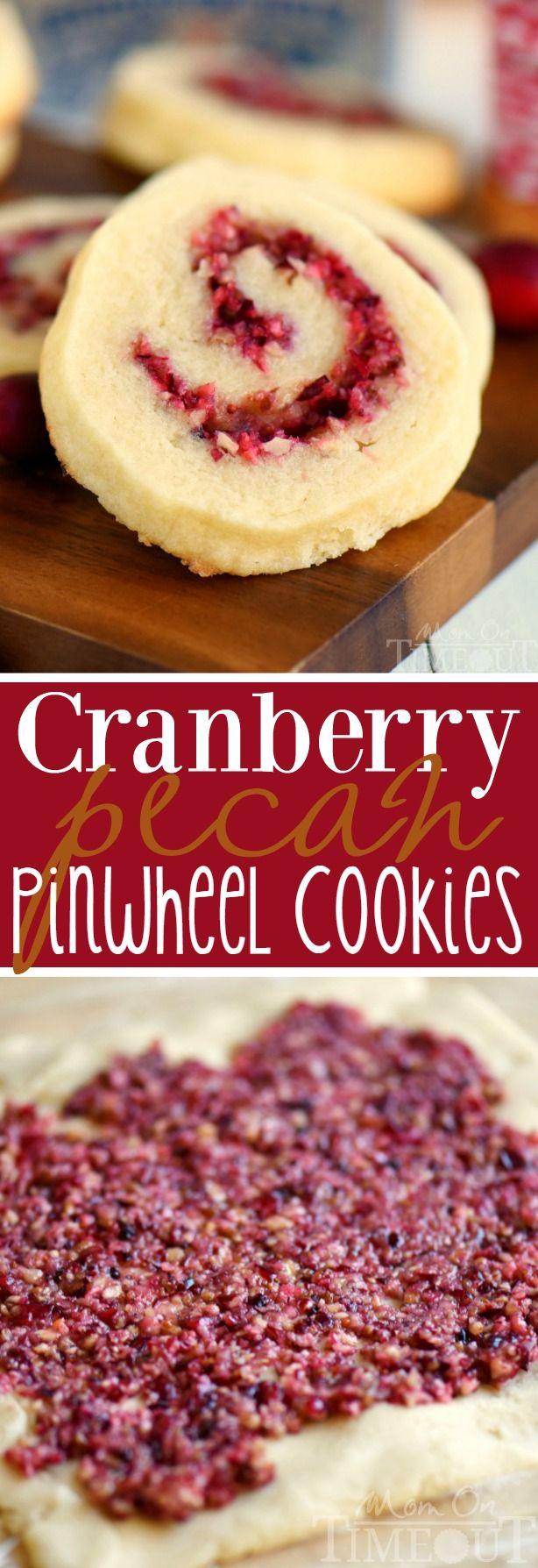 Cranberry Pecan Pinwheel Cookies