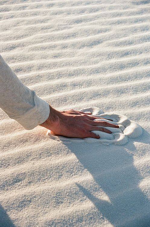 Wow this sand is so white and soft!