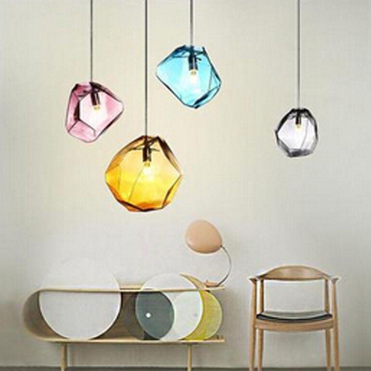 sencillo y moderno restaurante bar iluminacin del almacn de ropa creativa araa de cristal de color