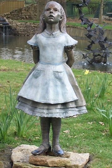 340 best sculpture images on pinterest garden sculpture - Alice in wonderland garden statues ...