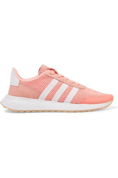 adidas Originals - Flashback Suede-trimmed Mesh Sneakers - Coral - US