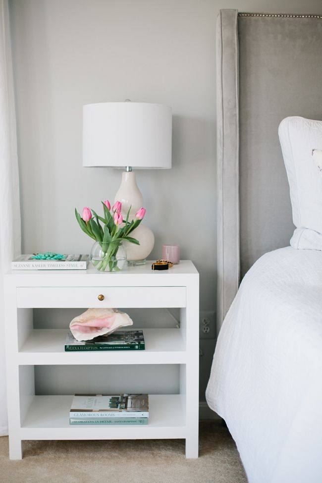 nightstand redo idea in white interior designer jennifer wagner schmidt home tour. beautiful ideas. Home Design Ideas
