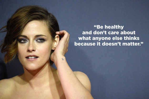 And when she gave advice to young girls struggling with body image. // Excuse the language but this article is so true