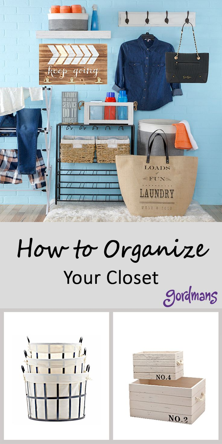 Messy closet? Read about different ways to organize your closet and keep it clean. With ways to store clothes to sharing the cutest bins to keep everything in!