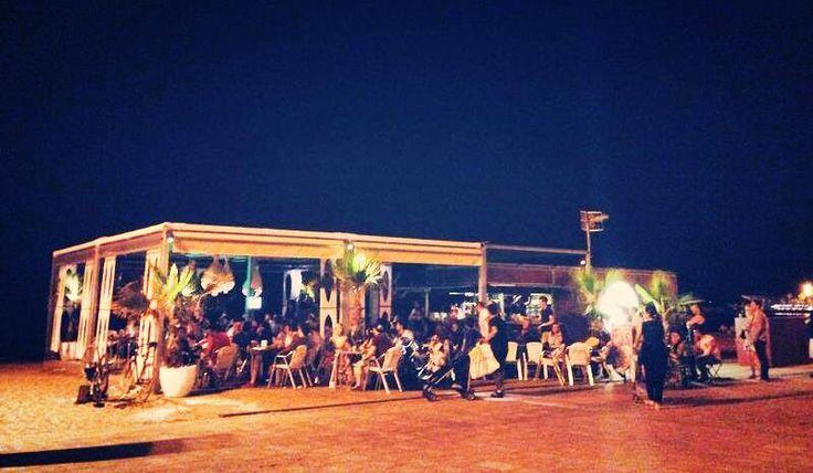 Mokaï night time - chiringuito and beachbar Barcelona