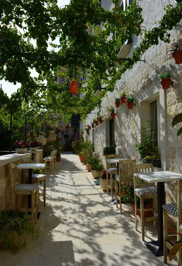 terrace in hvar, croatia