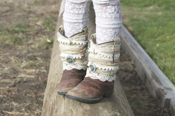 DIY Gypsy Boots. Great project for repurposing old, worn out cowgirl boots! From The Wannabe Cowgirl Blog
