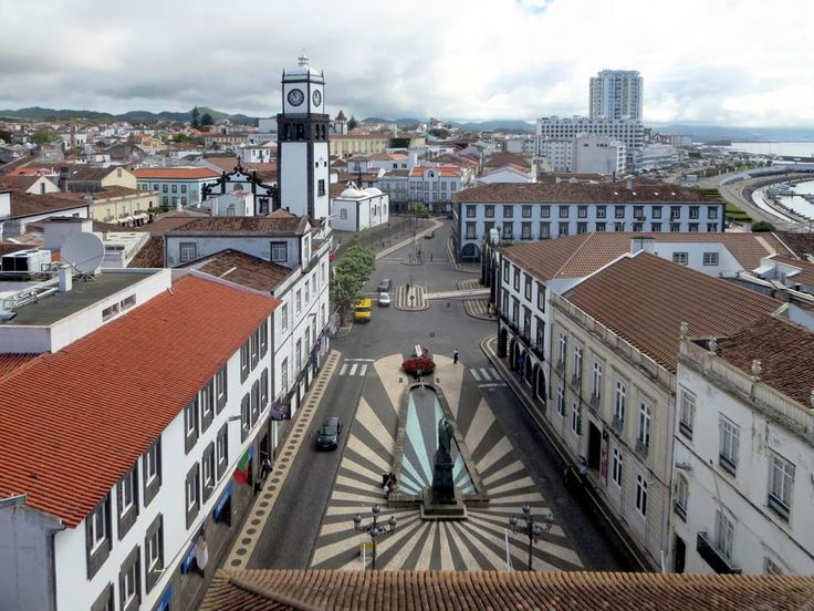 Praca do Municipio is the heart of Ponta Delgada on Sao Miguel Island, Azores.