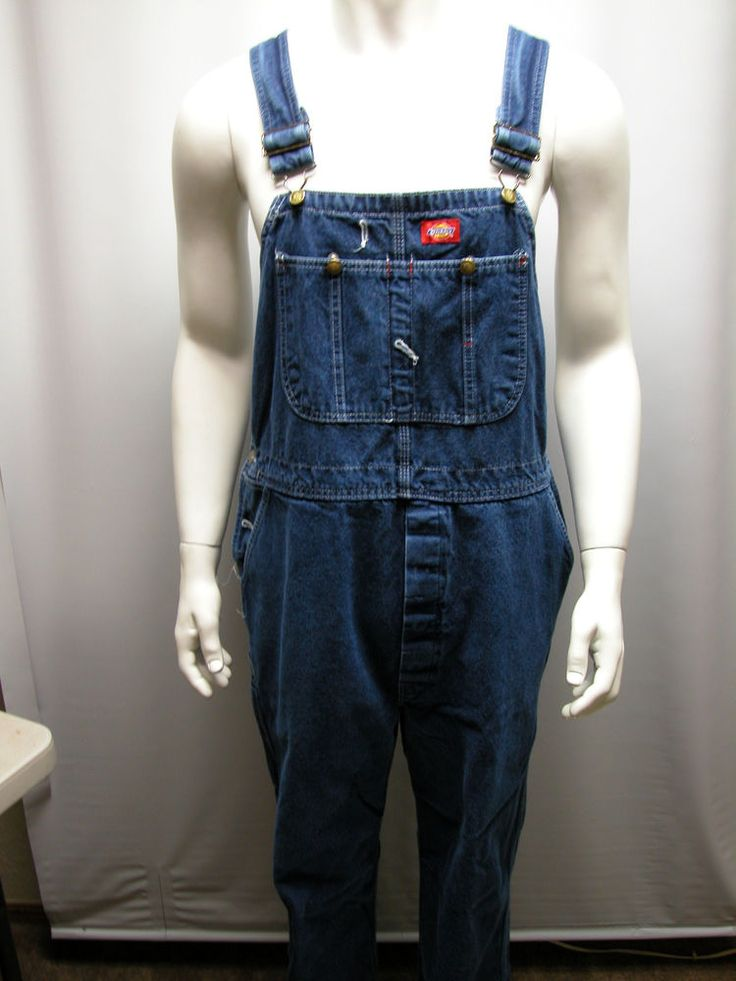 dickies bib overalls men s 40x32 coveralls blue denim work on best insulated coveralls for men id=33547