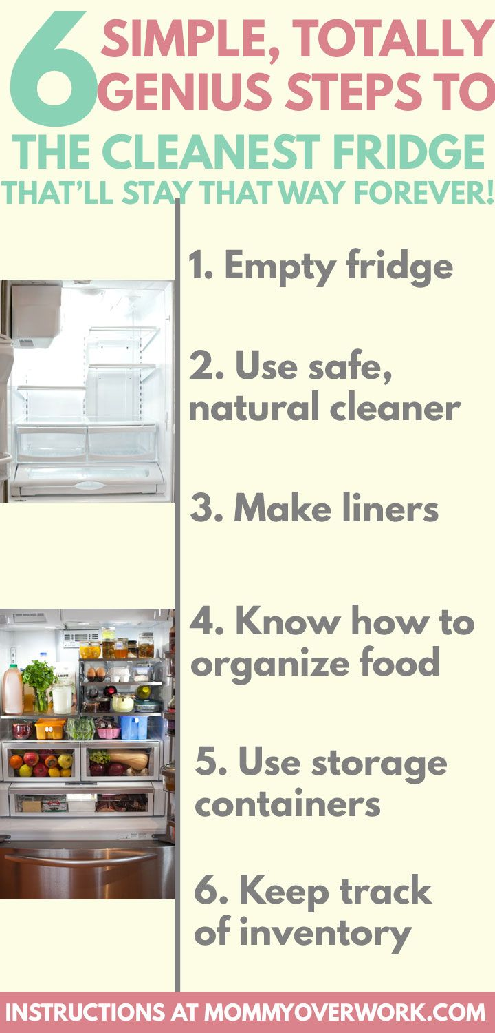 6 Simple Steps To A Spotlessly Clean Refrigerator Kitchen Hacks
