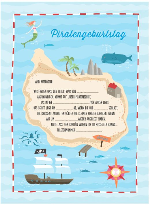 25+ best ideas about kindergeburtstag piraten on pinterest, Einladung