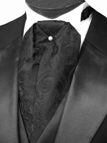 Wedding Tuxedo - Pin It :-) Follow Us :-)  azDresses.com is your Dresses Product Gallery. CLICK IMAGE TWICE for Pricing and Info :)  See more mens tuxedos at  http://azdresses.com/category/dress-categories/wedding-gown/wedding-tuxedos/ - men, wedding, tuxedo, wedding, groom - Ascot Tuxedo Tie- Black Satin Tapestry « AZdresses.com