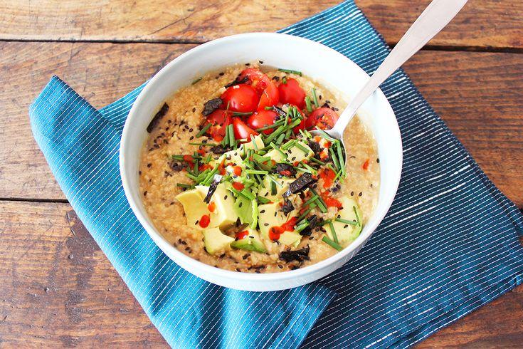 porridge salé pour le déjeuner
