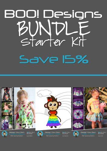 Bundle: Starter Kit: Shirred Dress + Twirly Skirt + Rainbow Twirl