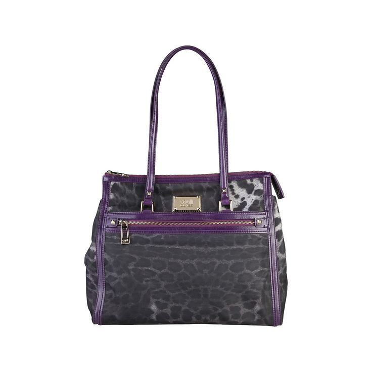 Cavalli Class – Suzanna – Shopping bag 006 Suzanna, Shopping bag of 80% PA 20% PVC, double handle, applied logo, lined interior 100% CO and zip fastening. Inside it, there are one compartment, one zip pocket, one inside pocket. It is of size: 34*28*15 cm.   https://fashiondose24.com