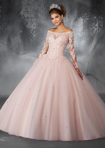 fc1ab015c Off the Shoulder Lace Quinceanera Dress by Mori Lee Valencia 60052 ...