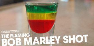 The Flaming Bob Marley Shot