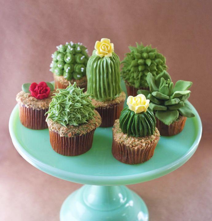 Cactus and Succulent Cupcake Recipe