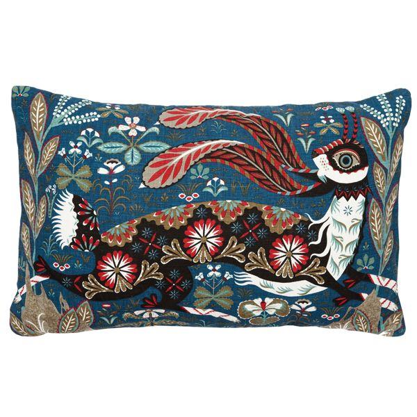 Running Hare cushion by Klaus Haapaniemi.