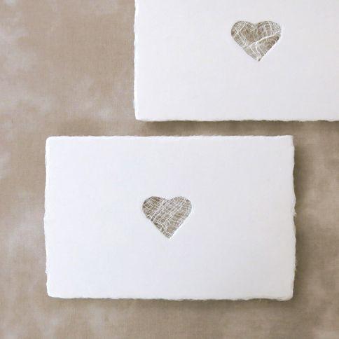 西島和紙工房 楮 透かしポストカード heart 1枚入 - WACCA ONLINESHOP