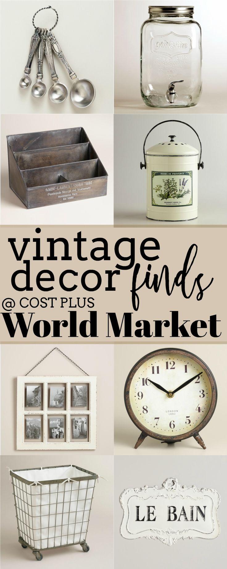30+ Unique Vintage Finds at Cost Plus World Market